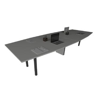 Mesa de Reunião com Tampo Bote e Pé Trave de 40 x 40 mm