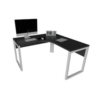 """Mesa de Trabalho em """"L"""" com Estrutura de 40 x 40 mm Looping e Painel Frontal"""