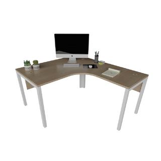 """Mesa de Trabalho em """"L"""" com estrutura de 40 x 40 mm e Painel Frontal"""