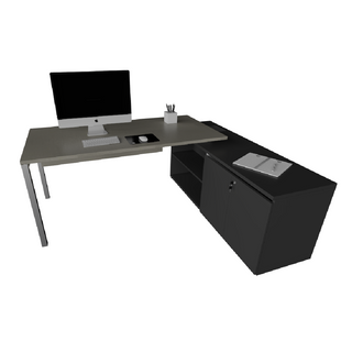 Mesa de Trabalho Indivídual com Meia Estrutura 40 x 40 mm