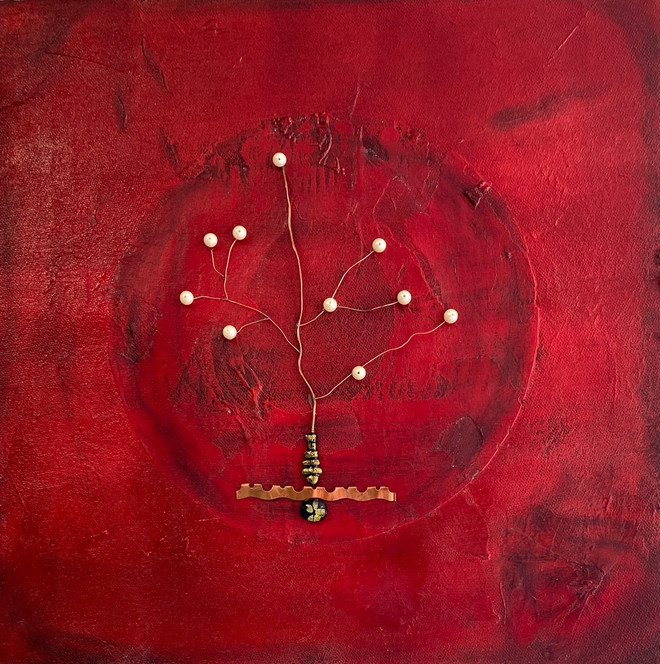 Abstract Tree in Red