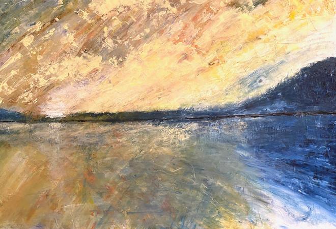 sunset over Lake of Bays