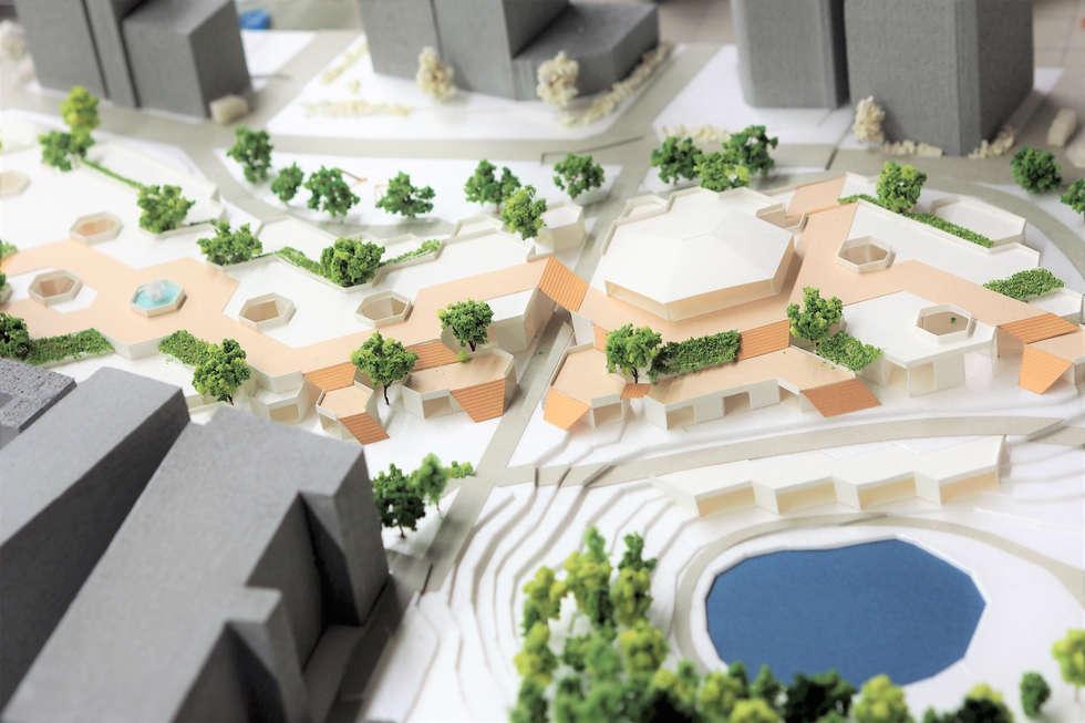 青山学院の向かい、「こどもの城」跡地に複合商業施設兼児童センターを計画しました。環境的に居心地の良い空間を季節によって推移させることで人の流れを誘導し、通りの「表」と「裏」が入れ替わるようになっており、季節に応じてテナントが入れ替わっていきます。