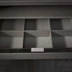 Wardrobe Interior finish in linen-textured Twist