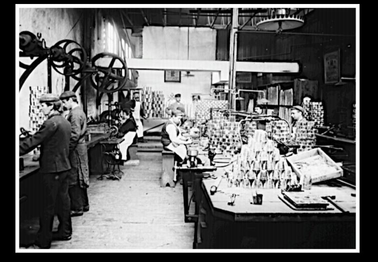 Factory workers photograph
