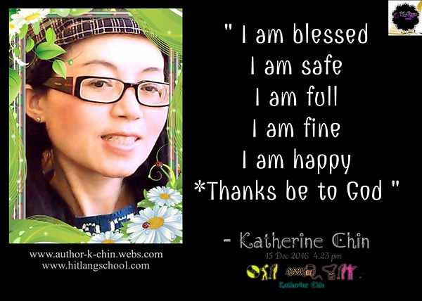 I am blessed.Quote By Katherine Chin