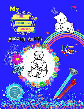 My cool colouring book : Amazing Animals by Katherine Chin,colouring book for children,children book,book for preschool,animal books,home shool book,home learning book,educational book for children,amazing animal fact,animal facts,animals,nursery book.primary school book,key stage 1 book,key stage 2 book.parent book,early year book,art book,drawing and colouring book,gift book,gift,bestseller colouring book