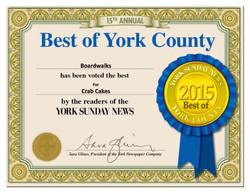 Certificate Crab Cakes 2015
