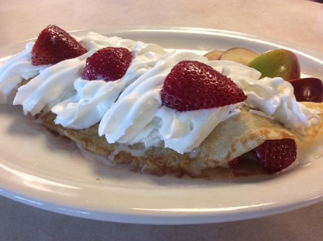 Breakfast - Strawberry Crepe