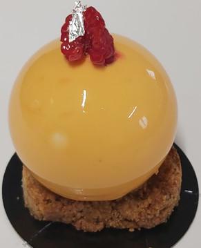 Sphère miel/framboise