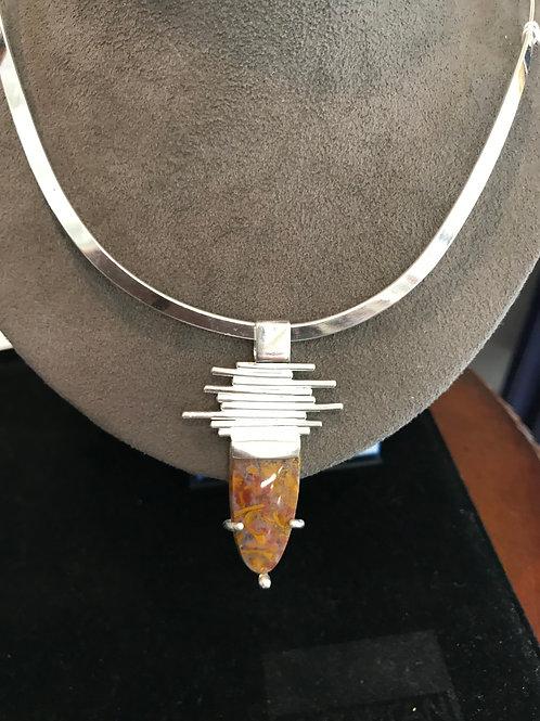 Silver & Jasper Necklace
