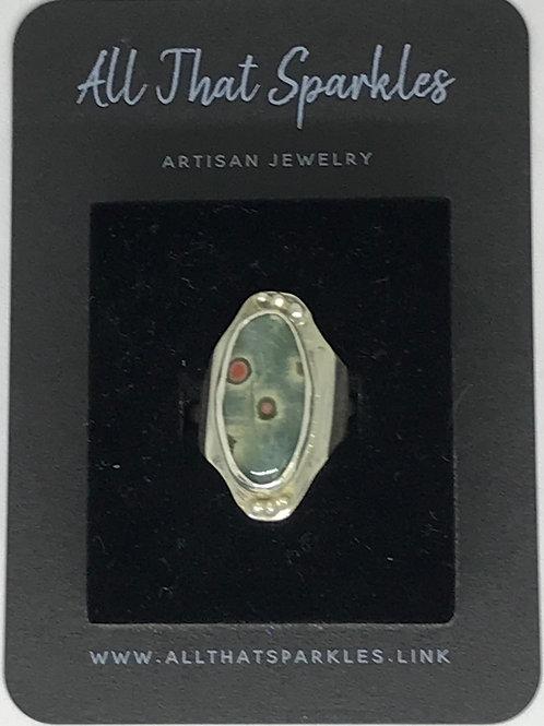 """Ariel"" Ocean Jasper Silver Ring"