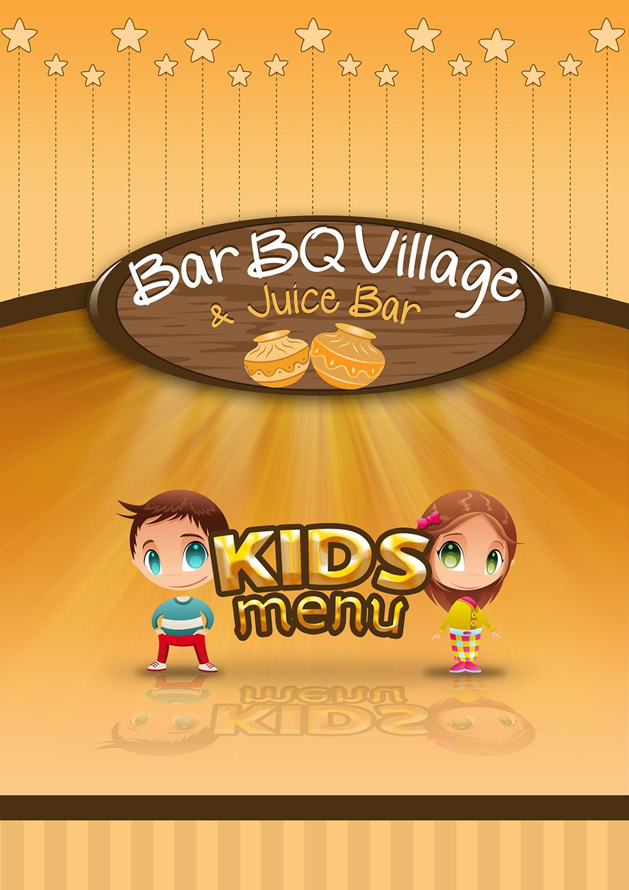 Kids menu, front