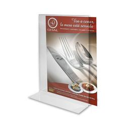 Acrylic table tent, Ghal Restaurant