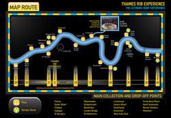 Map, Thames Rib Experience