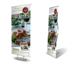 Banner stand, Ghal Restaurant