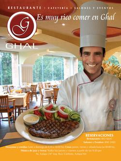 Advertising magazine,Ghal Restaurant