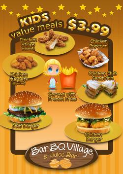 Kids menu, back