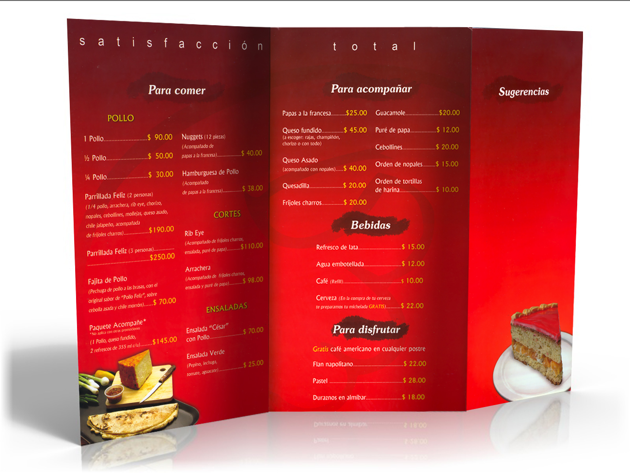 Menu, Ghal Restaurant