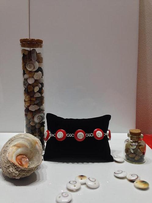 Bracelet rouge oeil de Shiva
