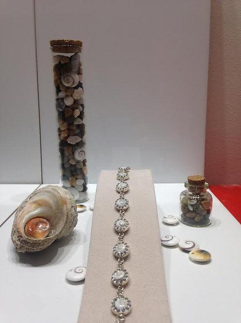 Bracelet strass et oeil de Shiva