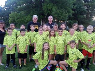 Holy Cross Elementary new soccer jerseys