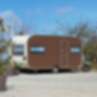 Retrocaravans op hoeve maedelstede
