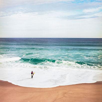 Photographie argentique hasselblad 6x6cm, surf au portugal.