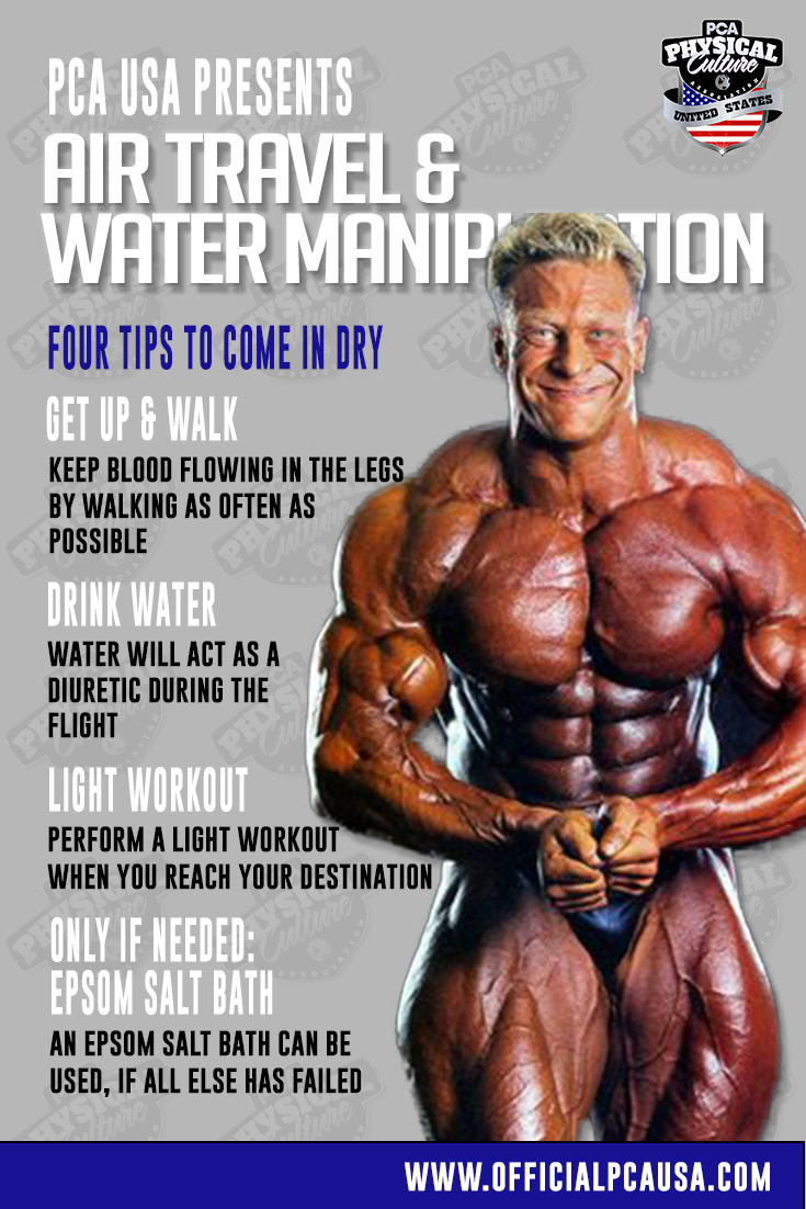 Air Travel & Water Manipulation for the Bodybuilding Athlete