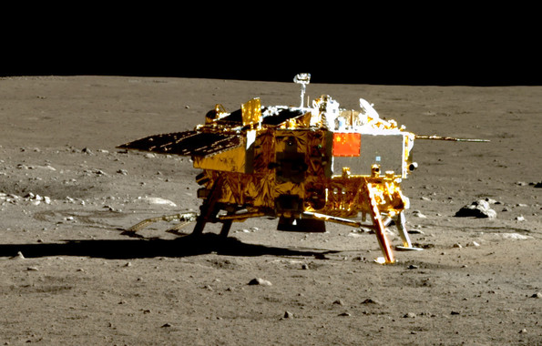 2013 - Chang'e 3 lands on the moon
