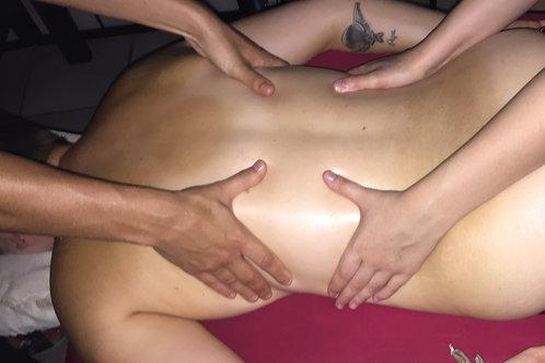 Massage 4 mains 60 minutes (homme et femme)