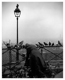 Feeding Pigeons; Paris