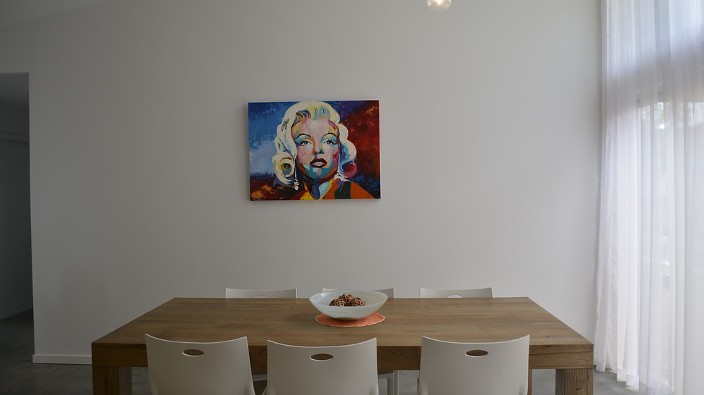 Marilyn in her new home.JPG