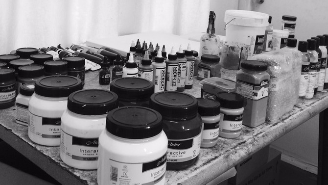 All my paints in view and in the one place what a great feeling