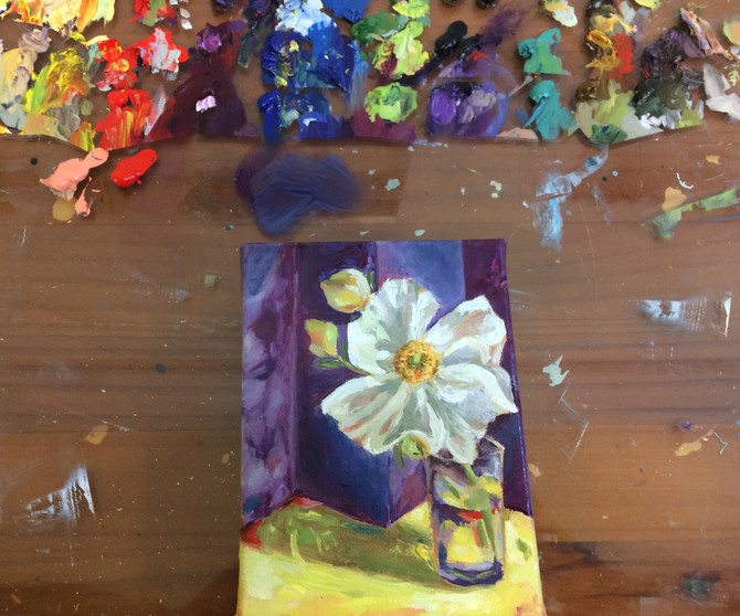 Testing out some new oils. With the inspiration beingfromBetty Edwards book titled'Colour'