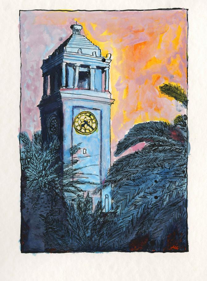 Art Class - Newcastle City Hall Clock