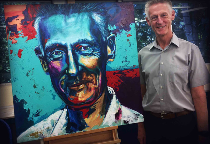 Missing Darwin and everyone there already. This is the result of the finished portrait of Craig Glas