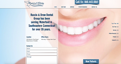 Raccio & Drew Website | Web Design by SoMa Boutique Markeing