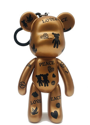Love and Peace - Large Keychain