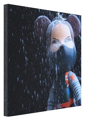 "(Limited Edition ?/100)  8x8"" Bucky POPOBE Bear Canvas Print"