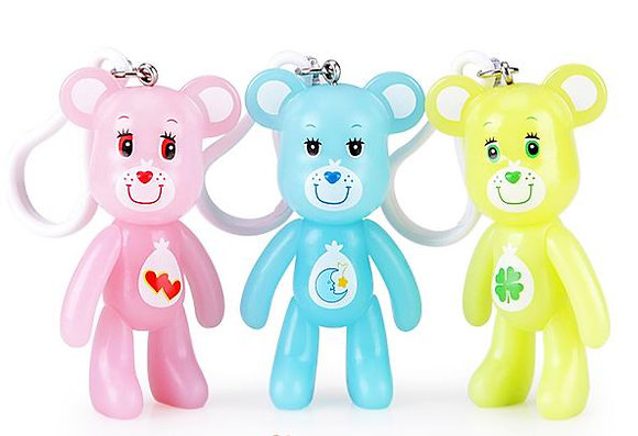 POPOBE Love a Lot, Bedtime, and Good Luck Bears Keychain Charms