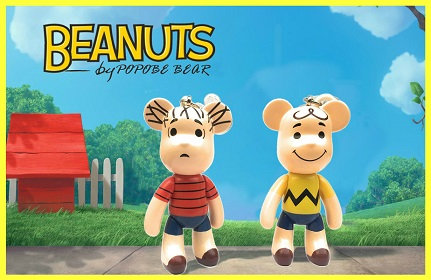 Charlie and Linus POPOBE Bear Figure Keychains
