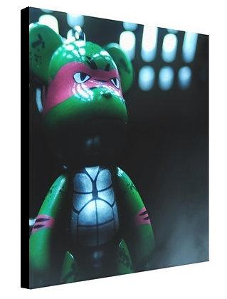 "(Limited Edition ?/100)  8x8"" POPOBE Ninja Bear Canvas Print"