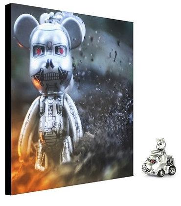 """(Limited Edition ?/100) 8x8"""" POPOBE T-800 Canvas Print & POPOBE Ride"""