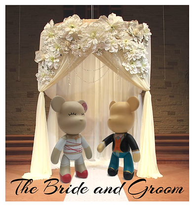 The Bride and Groom - Wedding Cake Toppers / figures / keychains.