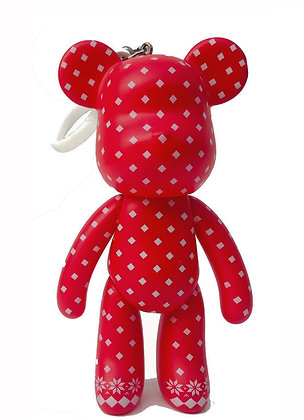 Polka Dots Red - Large Keychain