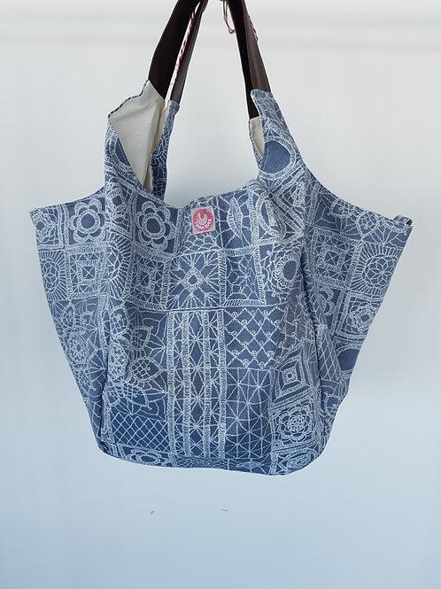 Beach Bag Azul Plastificado