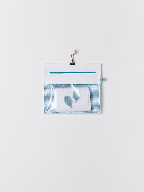 Bolsa Transparente Riscas Azul