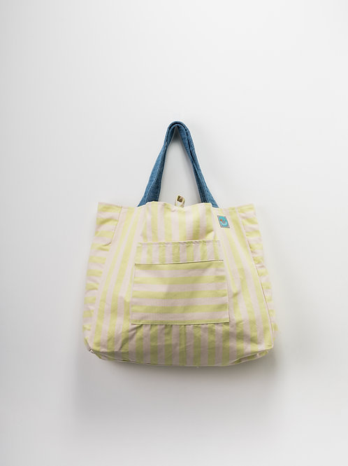 Beach Bag - Riscas Verde XL