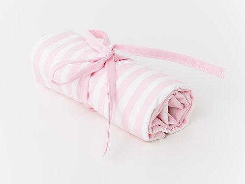 Muda Fraldas Riscas Rosa Claro